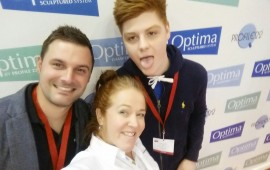 The lovely @BradleyScottWin guys snapping a selfie with our Brand Manager, Katie Leese! #SeeingIsBelieving